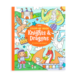 113083 OOLY Målarbok Knights and Dragons Coloring Book