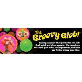 113086-12 Schylling Super-sized Stressboll Neon Nee-Doh The Groovy Glob dia 11 cm