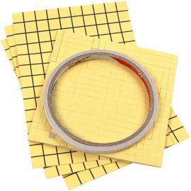 113106 Sticky Pack Set Dubbelhäftande Tejp, 3D-kuddar, Dubbelhäftande Folie