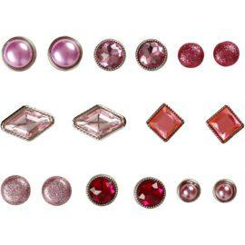 113110 Vivi Gade Design Dekorationsnitar Brads med Facettyta 8 Mix, 8-18 mm, Rosa16 st