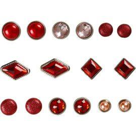 113111 Vivi Gade Design Dekorationsnitar Brads med Facettyta 8 Mix, 8-18 mm, Röd 16 st