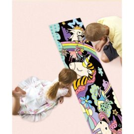 113121-5 AVENIR Färgläggningsaffisch Giant Poster Colouring Velvet Magical Unicorn World
