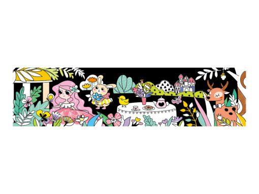 113123-3 AVENIR Färgläggningsaffisch Giant Poster Colouring Velvet Princess and Her Garden 126x29.5 cm