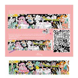 113123-4 AVENIR Färgläggningsaffisch Giant Poster Colouring Velvet Princess and Her Garden 126x29.5 cm