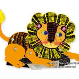 113125-3 AVENIR Skrapmotiv Scratch & Create Art Joint Puppets Forest Animals