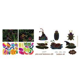 113129-1 AVENIR Skrapmotiv Scratch & Create Art Joint Puppets Little Bugs