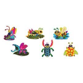 113129-2 AVENIR Skrapmotiv Scratch & Create Art Joint Puppets Little Bugs