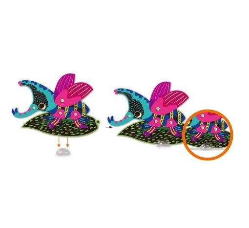 113129-3 AVENIR Skrapmotiv Scratch & Create Art Joint Puppets Little Bugs
