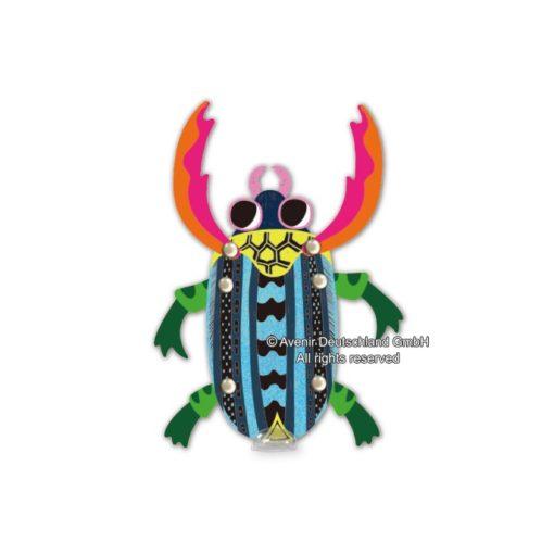 113129-4 AVENIR Skrapmotiv Scratch & Create Art Joint Puppets Little Bugs