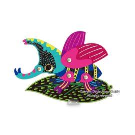 113129-6 AVENIR Skrapmotiv Scratch & Create Art Joint Puppets Little Bugs