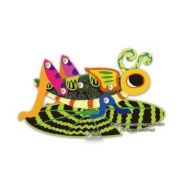 113129-7 AVENIR Skrapmotiv Scratch & Create Art Joint Puppets Little Bugs