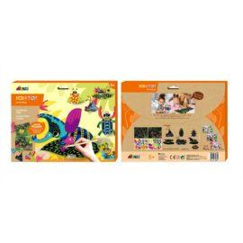 113129-8 AVENIR Skrapmotiv Scratch & Create Art Joint Puppets Little Bugs