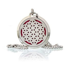 113130-2 Ancient Wisdom Halsband Aromaterapi Flower of Life 30 mm