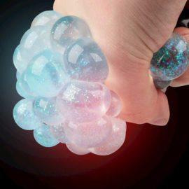 113132 Tobar Stressboll Light-up Glitter Mesh Ball