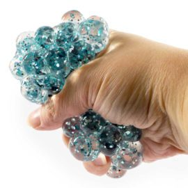 113133-6 Stressboll Sexkants-glitter Mesh Ball