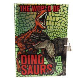 113141 Dagbok Dinosaurie A5 med lås