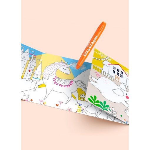 113146-1 AVENIR Gelkritor Unicorn Silky Crayons Watercolor + Coloring Poster - Set om 12