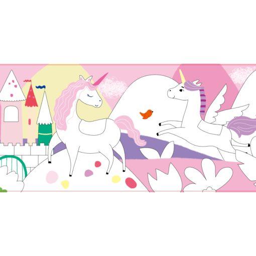 113146-2 AVENIR Gelkritor Unicorn Silky Crayons Watercolor + Coloring Poster - Set om 12