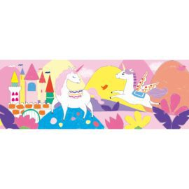 113146-3 AVENIR Gelkritor Unicorn Silky Crayons Watercolor + Coloring Poster - Set om 12