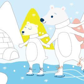 113148 AVENIR Gelkritor Polar Bear Silky Crayons Watercolor + Coloring Poster - Set om 12