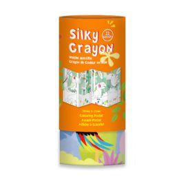 113150-5 AVENIR Gelkritor Toucan Silky Crayons Watercolor + Coloring Poster - Set om 12