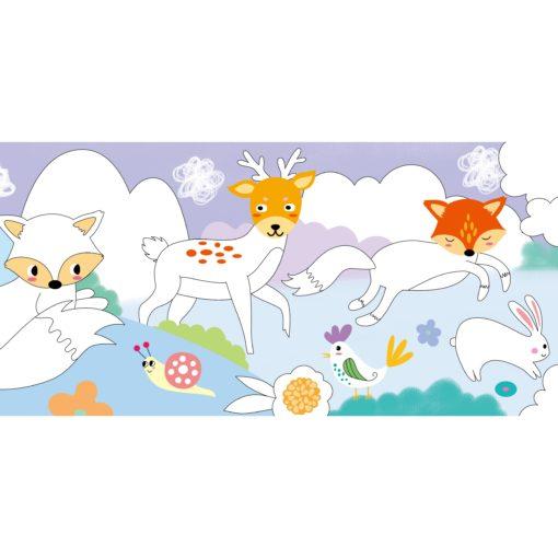 113151-1 AVENIR Gelkritor Fox Silky Crayons Watercolor + Coloring Poster - Set om 12