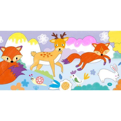 113151-2 AVENIR Gelkritor Fox Silky Crayons Watercolor + Coloring Poster - Set om 12