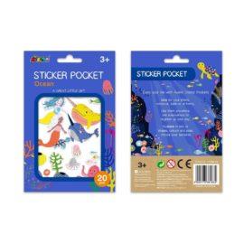 113152 AVENIR Sticker Pocket Ocean