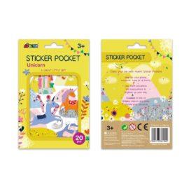 113153 AVENIR Stickers Pocket Unicorn