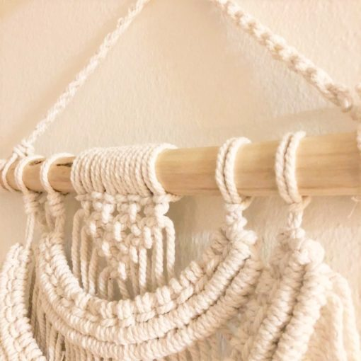 113188-1 Ancient Wisdom Väggbonad Macrame Wall Hanging Two Waves