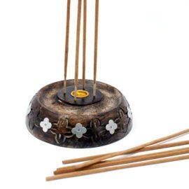 113217-2 Ancient Wisdom Asksamlare 2in1 Cone & Stick Burner Mango Wood