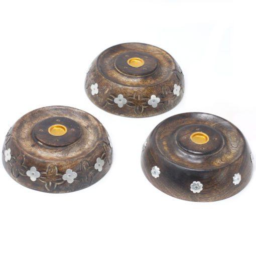 113217-3 Ancient Wisdom Asksamlare 2in1 Cone & Stick Burner Mango Wood