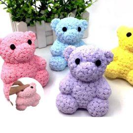 113250-1 Stressboll Squeeze Rose Bear