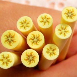 113264-10 Miniatyr Deco Jumbo Banana Fimo Slices