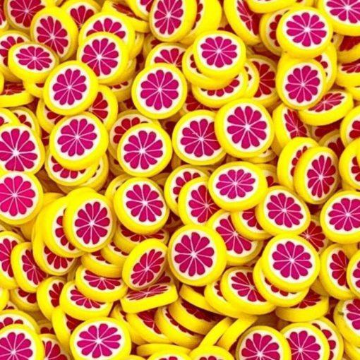 113265 Miniatyr Deco Jumbo Grapefruit Fimo Slices