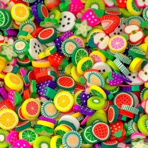 113271 Miniatyr Deco Jumbo Mixed Fruit Fimo Slices