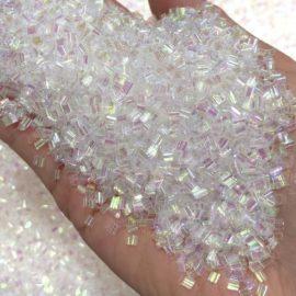 113252 Pärlor Iridescent Bingsu Beads Transparent