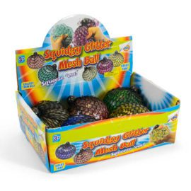 113309-2 Tobar Stressboll Jumbo Mesh Ball Glitter