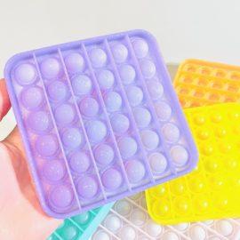 113332-10 Pop It Fidget Toy Glitter