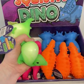 113346 Fidget Toy Squeeze Dinosaurie Neon