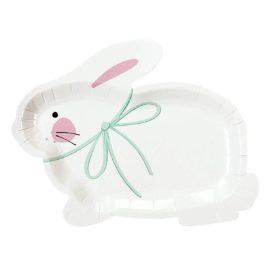 113368-1 Talking Tables Papperstallrikar Kanin 15x19 cm 12 st - Truly Bunny