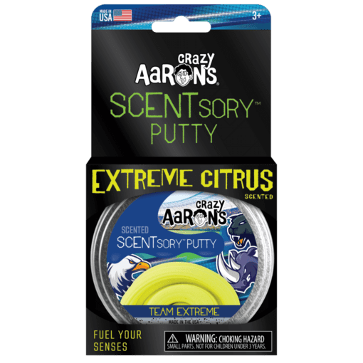 113380-6 Crazy Aarons SCENTsory Putty Team Extreme Citrus Scented