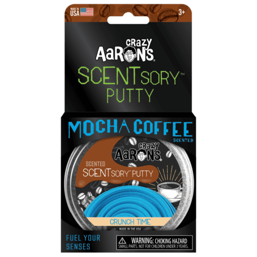 113381-6 Crazy Aarons SCENTsory Putty Crunch Time Mocha Coffee Scented