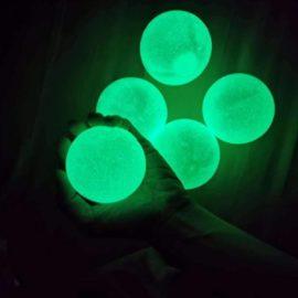 113385-5 Sticky Wall Balls Glow-in-the-dark Fidget Toy1 (2)