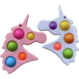 113402-4 Simple Dimple Jumbo Unicorn Fidget Toy