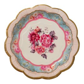 113411-2 Talking Tables Pappersassietter Blommönster 17 cm 12 st - Truly Scrumptious