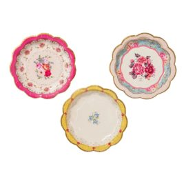 113411 Talking Tables Pappersassietter Blommönster 17 cm 12 st - Truly Scrumptious