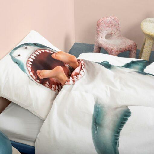 113420-1 SNURK Sängkläder - Vit Haj
