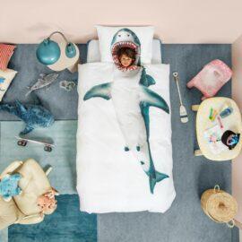113420-3 SNURK Sängkläder - Vit Haj