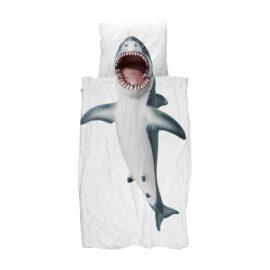 113420-4 SNURK Sängkläder - Vit Haj